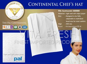 CONTINENTAL CHEFS HAT หมวกเชฟ Image