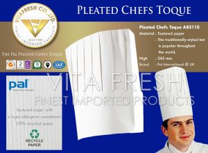 Pleated Chefs Toque